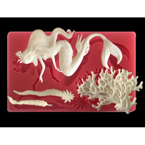 Cesil Deniz Kızı Konsept Şeker Hamuru Modelleme Kalıbı