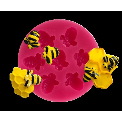 Cesil Arı Set Şeker Hamuru Modelleme Kalıbı