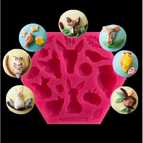 Cesil Hayvanlar Alemi Set - 2 Şeker Hamuru Modelleme Kalıbı