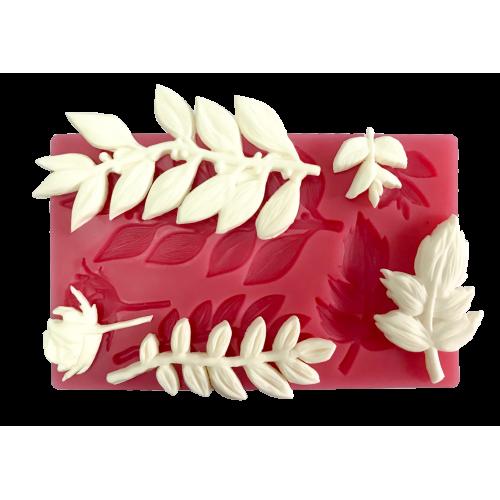 Cesil Beşli Yaprak Set Şeker Hamuru Modelleme Kalıbı