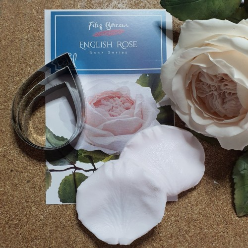 İngiliz Gülü (English Rose) Metal Kesici ve Silikon Set