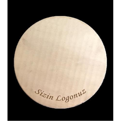 Logolu Ahşap Pasta Altlığı 5'li Set 30 cm
