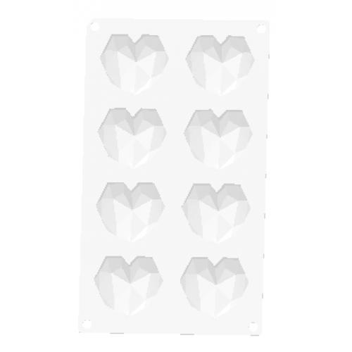 8'li Elmas Kalp Slikon Kalıp