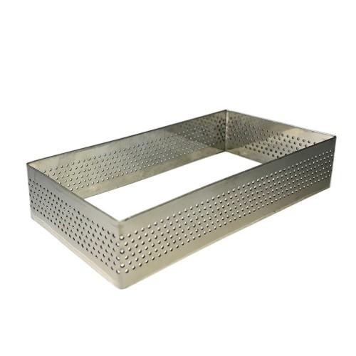 Delikli Dikdörtgen Tart Ring - 10x5cm