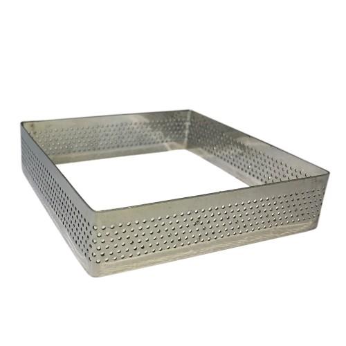 Delikli Kare Tart Ring - 9x9cm