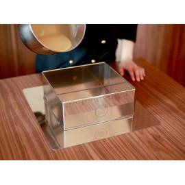 Ayarlanabilir Çelik Kare Kek Pasta Kalıbı H10; 24x19 - 32x46 cm (İHRAÇ FAZLASI)