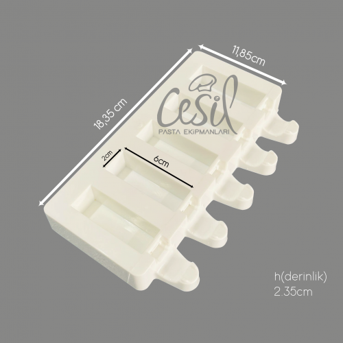Cesil 5li Mini Bar Kalıbı 60X20X20mm