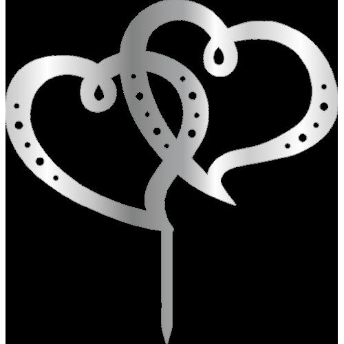 Topper -Kalpler , gümüş, H: 16,5 cm