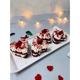 Cesil 6'lı Büyük Kalp Silikon Kek Pasta Kalıbı