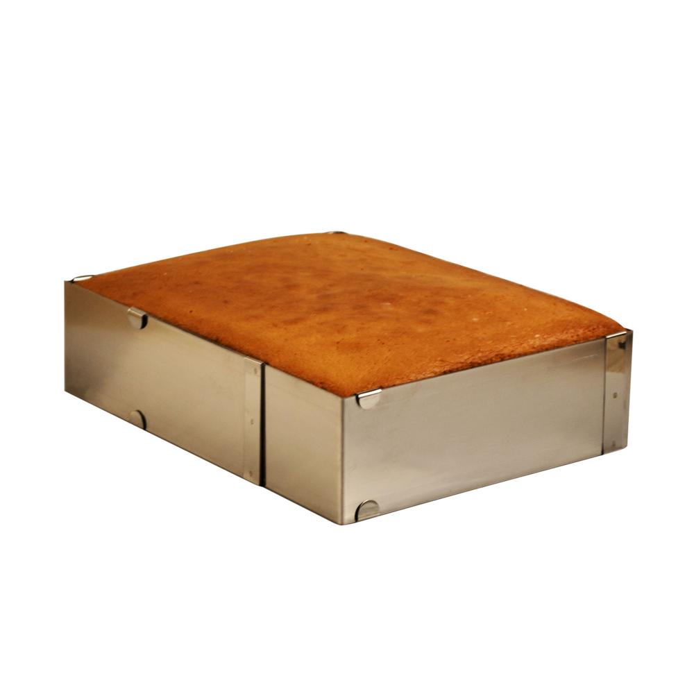 Ayarlanabilir Çelik Kare Kek Pasta Kalıbı H15 x 20-20 40-40