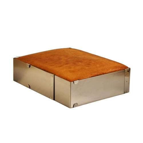 Ayarlanabilir Çelik Kare Kek Pasta Kalıbı H10 x 20-40