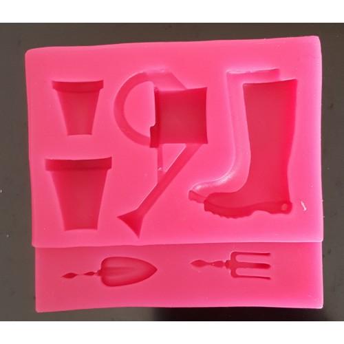 Bahcivan Set, Silikon Kalip, 7,5 x 7 cm