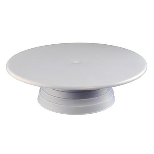 Plastik Döner Pasta Sıvama Standı 32 cm - Beyaz