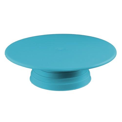Plastik Döner Pasta Sıvama Standı 32 cm - Mavi
