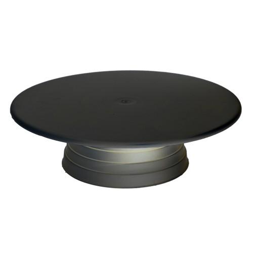 Plastik Döner Pasta Sıvama Standı 32 cm - Siyah