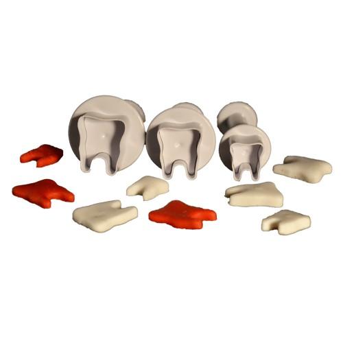 3'lü Diş Şekilli Basmalı Kopat Seti