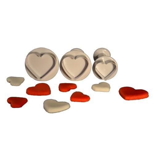 3'lü Kalp Şekilli Basmalı Kopat Seti