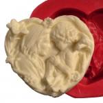Cesil Kalp İçinde Anne Bebek Kokulu Taş & Sabun Kalıbı