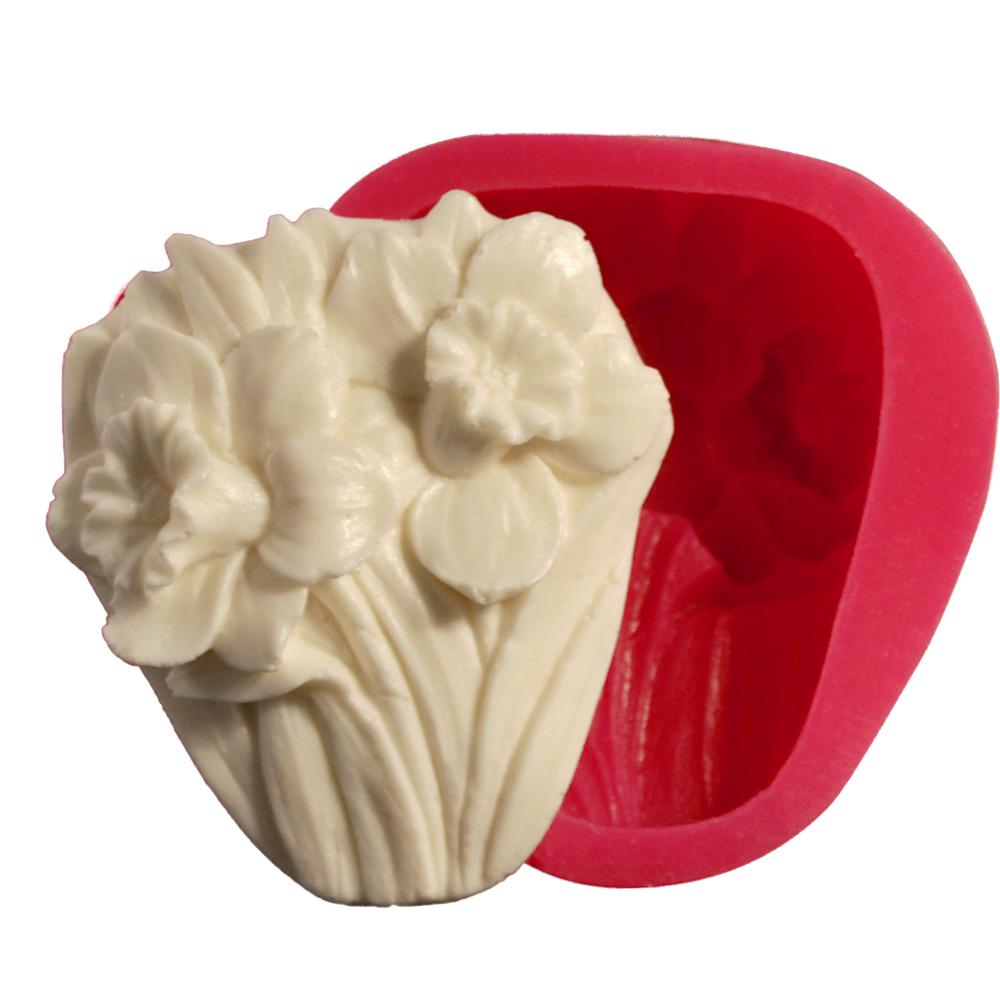 Cesil Çiçek Buketi Silikon Kokulu Taş & Sabun Kalıbı