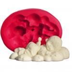 Cesil Bulut Üstünde Uyuyan Bebek Kokulu Taş & Sabun Kalıbı