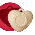 Cesil Kalp Desenli Silikon Kalıbı (8*8cm)