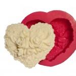 Cesil Kalp Güller Silikon Kokulu Taş & Sabun Kalıbı