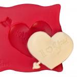 Cesil Oklu Kalp Silikon Kalıbı (5*4cm)