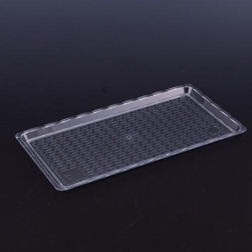 Polikarbon Şeffaf Kırılmaz Teşhir Tepsi 15 x 30 cm