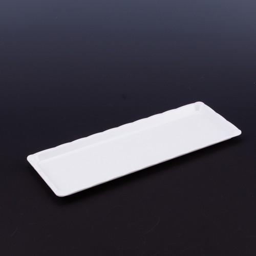 Polikarbon Beyaz Kırılmaz Teşhir Tepsi 10 x 30 cm