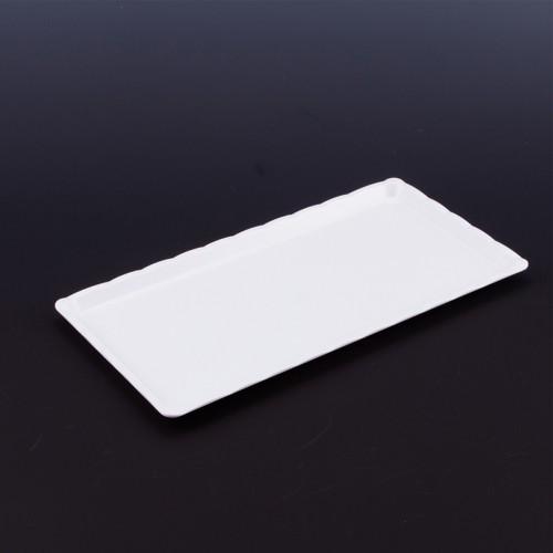 Polikarbon Beyaz Kırılmaz Teşhir Tepsi 15 x 30 cm
