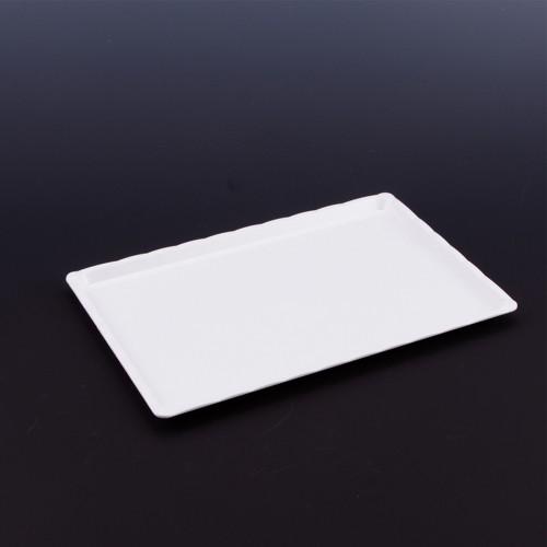 Polikarbon Beyaz Kırılmaz Teşhir Tepsi 20 x 30 cm