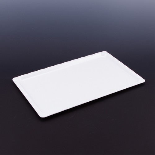 Polikarbon Beyaz Kırılmaz Teşhir Tepsi 25 x 40 cm