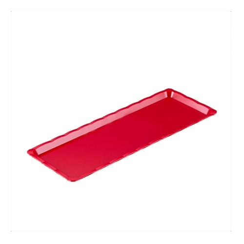 Polikarbon Kırmızı Kırılmaz Teşhir Tepsi 10 x 30 cm