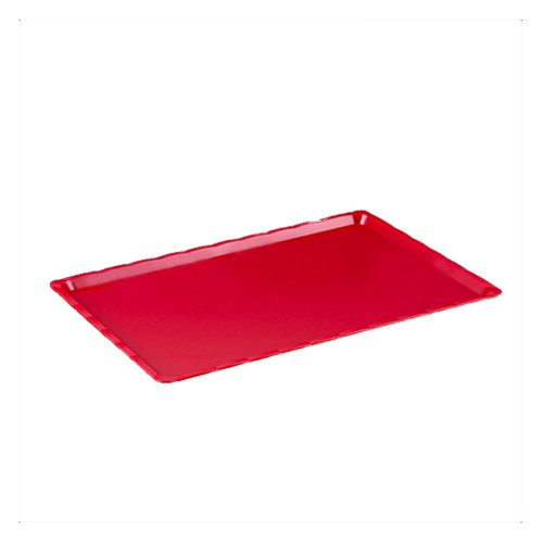 Polikarbon Kırmızı Kırılmaz Teşhir Tepsi 15 x 30 cm