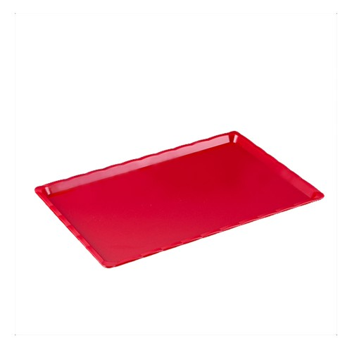 Polikarbon Kırmızı Kırılmaz Teşhir Tepsi 20 x 30 cm