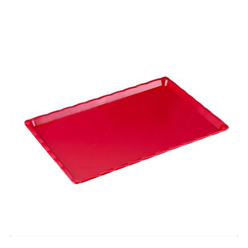 Polikarbon Kırmızı Kırılmaz Teşhir Tepsi 25 x 40 cm