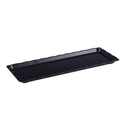Polikarbon Siyah Kırılmaz Teşhir Tepsi 10 x 30 cm